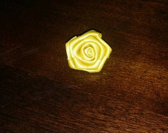 Gold lapel pin with clamp backing