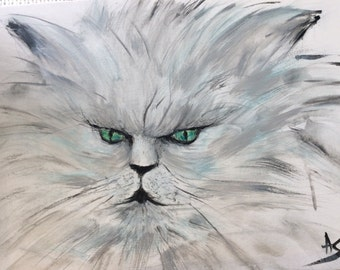 Persian Cat. grey. money