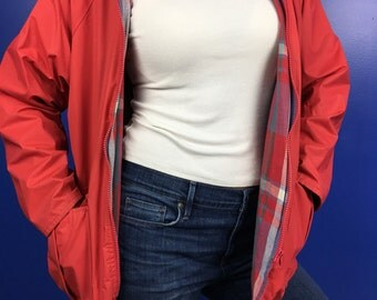 Vintage Misty Harbor Red/Orange Rain Jacket Size Small