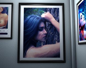 Original photo. Fantasy girl. Printable art. Digital art