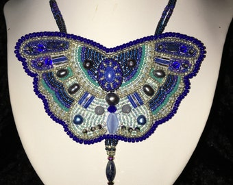 Mosaic Butterfly Necklace