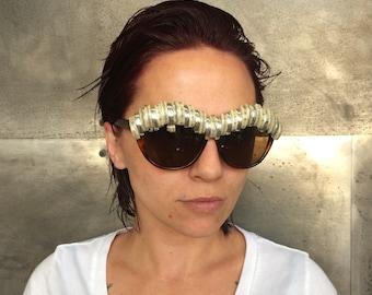 Vintage style Embellished Winged Sunglasses