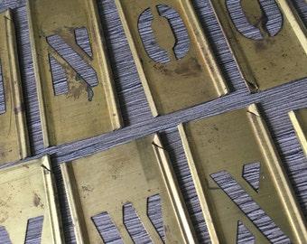vintage brass letter stencils 42 piece set