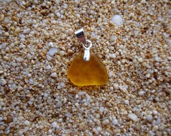 Sea glass pendent orange