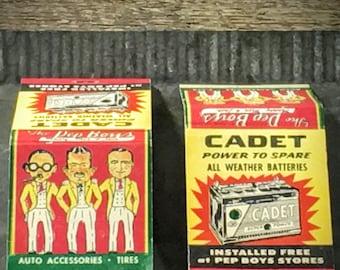 Old Matchbooks - Vintage Pep Boys Advertising