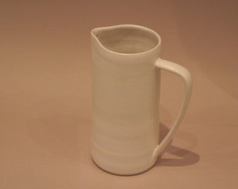 Medium sized white stoneware jug