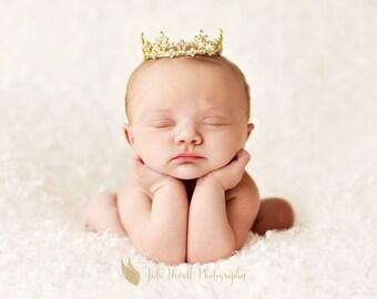 Brooklyn Crown, Baby Crown, Baby Tiara, Newborn Photo Prop, Newborn Crown, Baby Tiara prop, Photography Props, Unique Photo Props, baby prop