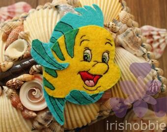 Flounder from The Little Mermaid Felt Ornament/Magnet