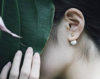 Marble Concrete Bubble Earrings