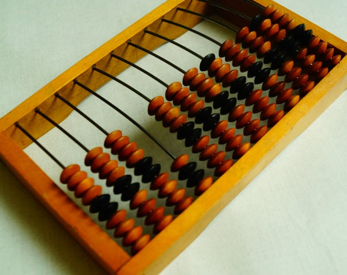 Vintage wood abacus, Soviet abacus, wooden abacus, Soviet Calculator, Primitive Calculator, back to school, industrial decor, made USSR