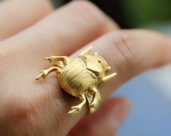 On sale!-45%, 22euros instead of 40, ring, vintage, animal, bird-ring-sacarabee