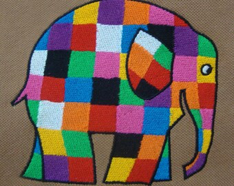 Flamboyant Elephant's Machine Embroidery Design