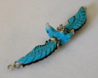 Sleeping Beauty Turquoise Eagle Pendant