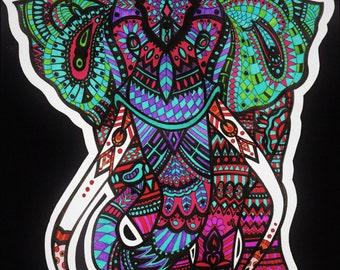 Mosaik Elephant+Glossy print