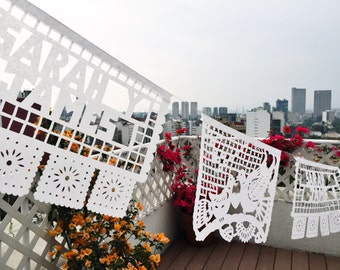 PERSONALIZED Wedding Mexican Papel Picado, 10+ STRANDS