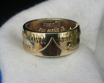 Ring made from an AA 12 Step Recovery Medallion. (Mine or yours)