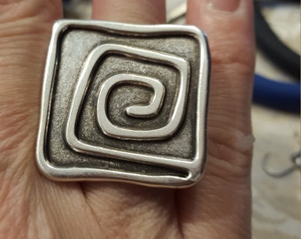 Zama and leather ring