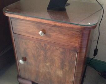 Old table of night (50 years) wood and veneer
