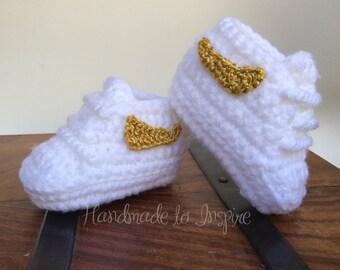 Crochet Nike , Sneaker crochet, Baby sneaker Nike inspired, sneakers .