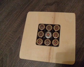 Bottle Cap Wooden Placemat