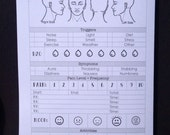 Daily Migraine Tracker (DO1P) Traveler's Notebook Insert - Choose Your Size