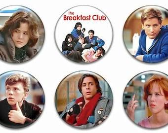 6 Breakfast Club Button set