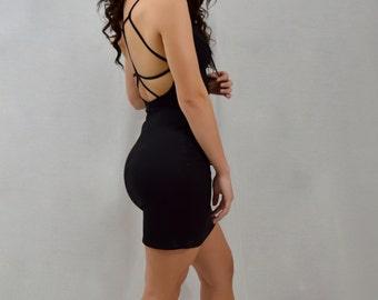 Strappy Black Dress | Lapis & Lace