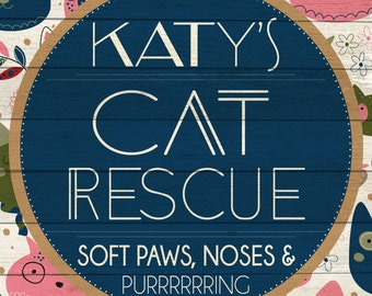 Custom Cat Rescue Sign Digital Download