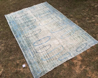 Soft Color Rug 276x166cm Striped Distressed Rug By Eclecticrug