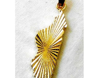 Map of Madagascar pendant plated gold