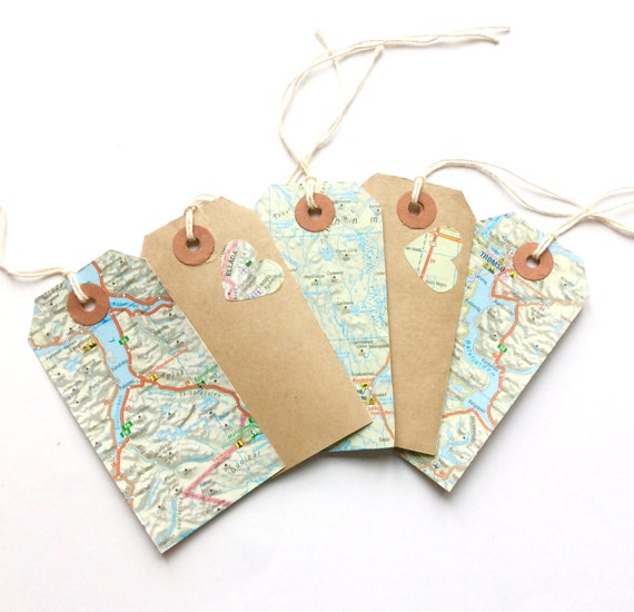 Travel Gift Vouchers Wedding Gifts: Wedding Place Card Gift Tags Handmade Travel Theme