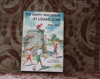 The Hapy Hollisters at Lizard Cove by Jerry West vintage childrens Mystery book.