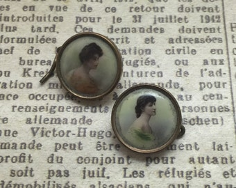 A Pair of Art Deco Style Button Studs
