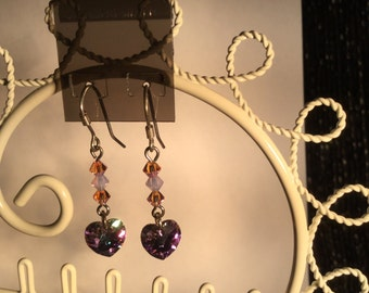 Sterling Silver and Swarovski Crystal Earrings