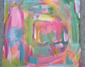 """Original Acrylic Painting • """"Behind The Scenes"""" • Abstract Painting"""