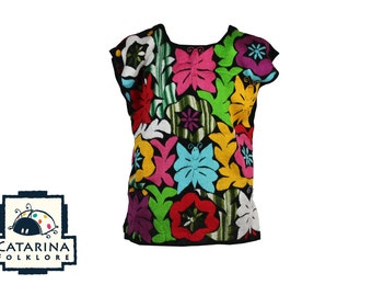 Mexican Hand Embroidered Tuxtepec Blouse