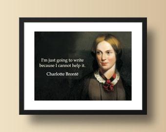 Famous Quote Poster Print - Charlotte Brontë