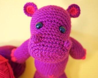 Hippopotamus amigurumi crochet high quality toy!