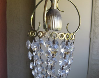 Mini Chandelier Crystal Bronze
