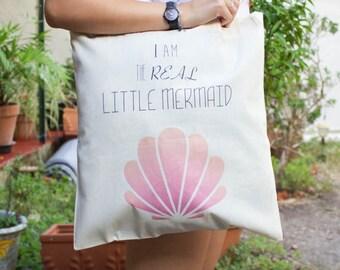Totebag 100% cotton little mermaid