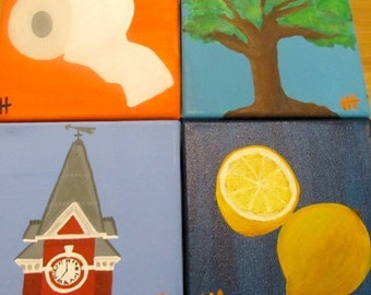 My Favorite Things - Auburn Paintings, samford hall, toomers lemonade, toomers corner, oaks, rolling toomers corner, auburn art, dorm decor