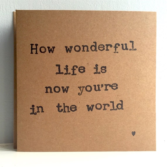 How Wonderful Life Is Now You 39 Re In The World Hand By Audreycoco