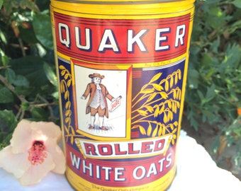 Vintage Tin Pure Quaker Oats Limited Edition 1984