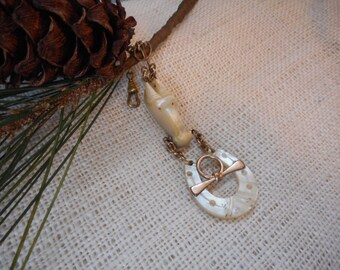 Mother Of Pearl Watch Fob Circa 1900