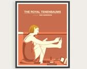 The Royal Tenenbaums, Margot Tenenbaum, Gwenyth Paltrow, Wes Anderson, Minimal Movie Poster.