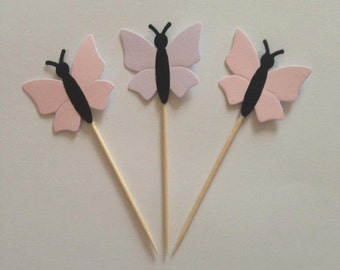 Handmade Butterfly cupcake toppers