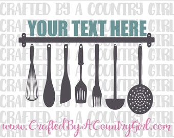 Kitchen svg, Utensils Name Cut File, SVG, digital file, digital design, vinyl, wall art,  yeti decal, spoon, spatula, whisk, fork, cuttable
