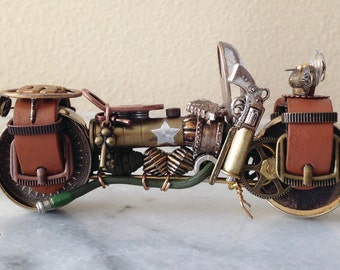 Steampunk Army Motorcycle