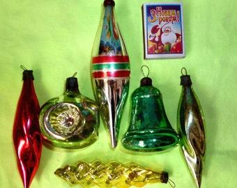Soviet Christmas Ornament Glass Christmas Ornament Tree Decoration - Figures