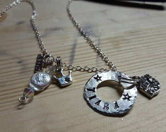 Graduation personalized charm necklace